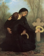 William Adolphe Bouguereau (1825-1905) The Day of the Dead (1859)