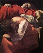 Caravaggio. The Death of the Virgin, 1606 (detalhe)