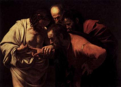 Caravaggio. The Incredulity of Saint Thomas. 1601-02