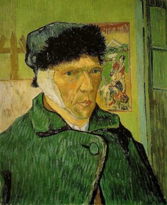 "GOGH, Vincent van. ""Self-portrait after cutting ear"", 1889"