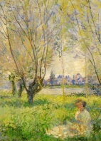 MONET. Claude. Woman Seated under the Willows. 1880.