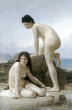 Duas banhistas - William-Adolphe Bouguereau