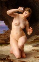 Mulher com uma concha - Bouguereau, William