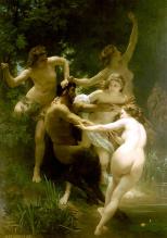 Ninfas e Sátiro - William-Adolphe Bouguereau (1873)