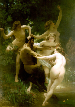 Ninfas e Sátiro - William-Adolphe Bouguereau (1873)