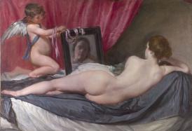 """VELÁZQUEZ, Diego. """"A Vênus de Rokeby"""". c. 1647–51"""