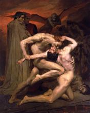 Dante e Virgílio no Inferno - 1850 William-Adolphe Bouguereau
