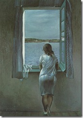 Salvador dali. Figure at a Window, 1925