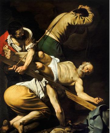 Crucifixion of Saint Peter- Caravaggio (1600)
