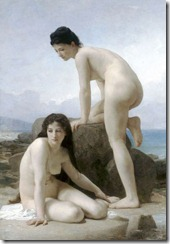 Duas banhistas - William-Adolphe Bouguereau (1825)