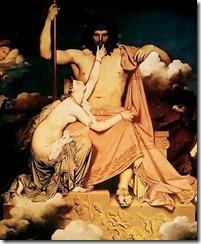 Júpiter e Tétis. Jean Auguste Dominique Ingres
