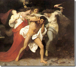 O remorso de Orestes - William-Adolphe Bouguereau (1862)